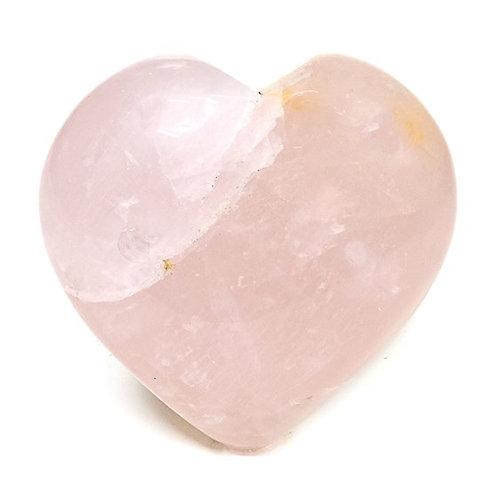 DL13272 ATTENTION! Pierre de souci coeur Quartz rose