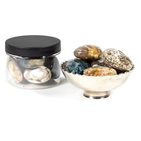 DL9014 Jaspe océan pierres polies qualité AA