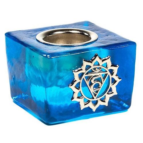 bougeoir bleu clair - trou de 22mm