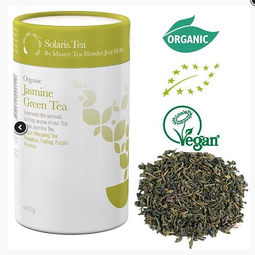 10111Solaris Thé vert au jasmin biologique - en vrac -- 100 g   Solaris Thé vert