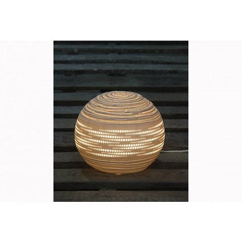 LAMPE PORCELAINE BOULE