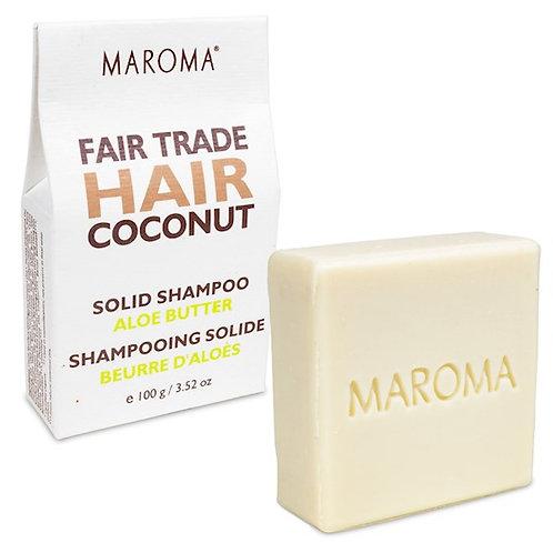 13159 Maroma Barre de shampoing solide Noix de Coco & Aloe