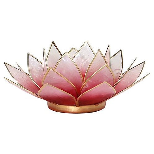 DLEclairage d'ambiance Lotus orange bords or