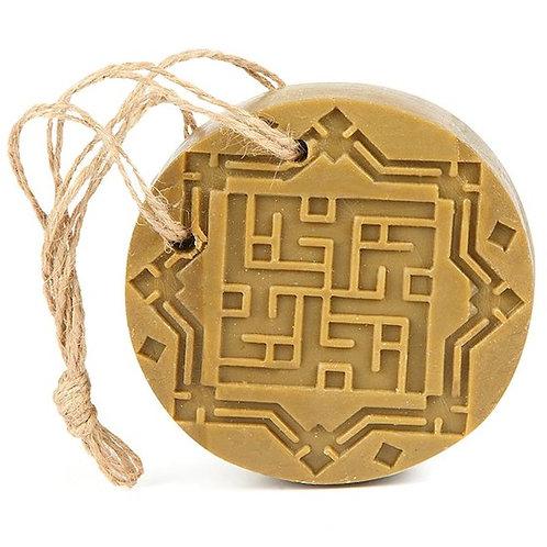 DLSavon d'Alep Ambre & bois de Oud (d'agar) avec un cordon