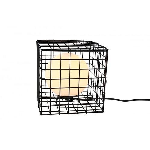 LAMPE CAGE METAL / SPHERE VERRE