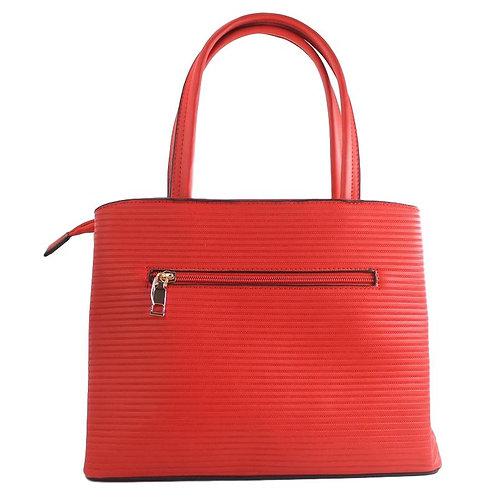 sac à main rouge à rayures