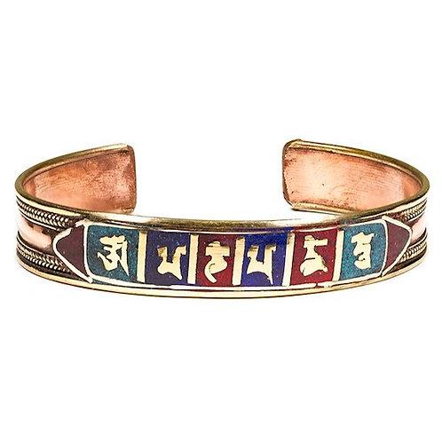 DL15612 Bracelet Om Mani Peme Hum en cuivre