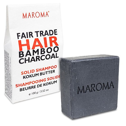 13161 Maroma Barre de shampoing solide Bambou Charbon
