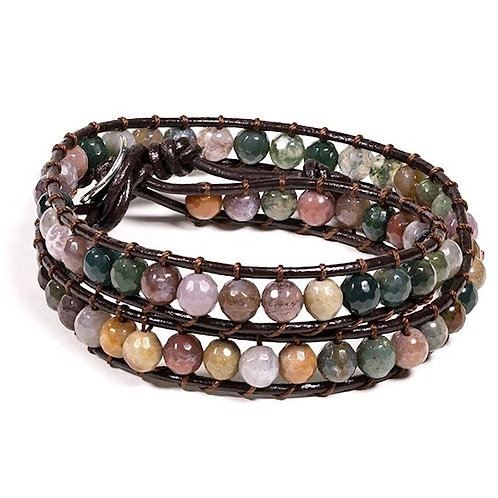 DL13119 Bracelet en agate facettée