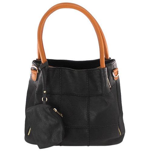 grand sac à main marron