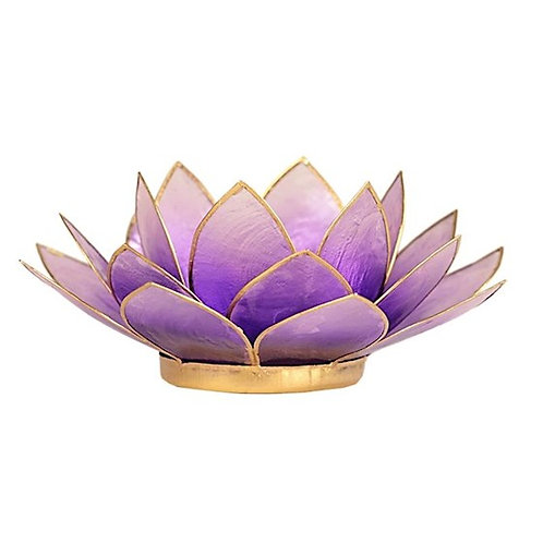DLEclairage d'ambiance Lotus violet bords or