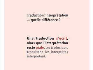 La différence entre l'interprétation et la traduction