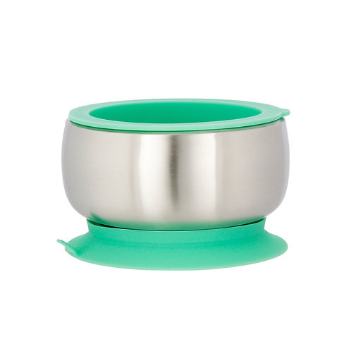 Avanchy Stainless Steel Suction Baby Bowl + Air Tight Lid