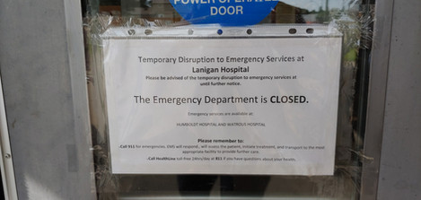 Lanigan July 21, 2020  At the start of the COVID-19 pandemic in Saskatchewan, 12 rural hospital emergency departments were closed so that medical resources could be focused in larger centres. Lanigan Hospital was one of the communities to have its emergency department closed. Gradually, many of these rural emergency departments started to re-open but, as of mid-July, the Lanigan emergency department was still closed. The closest emergency room is 50 km away.