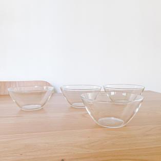 Glass Bowls, set of 4