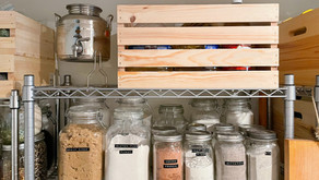 Organizing Our Basement Shelves