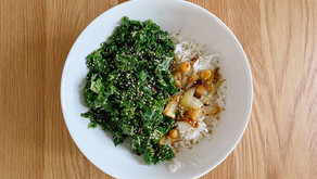 Asian Kale & Chickpea Rice Bowl