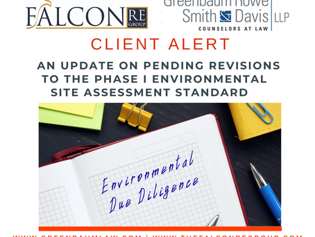 An Update on Pending Revisions to the Phase I Environmental Site Assessment Standard
