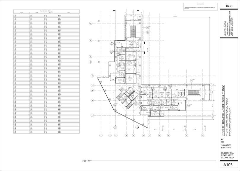 A103 - Building A - Level 1