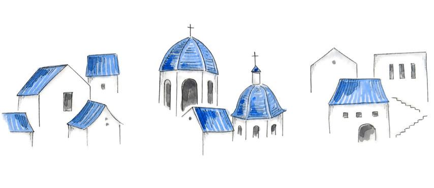 Watercolor Study - Buildings