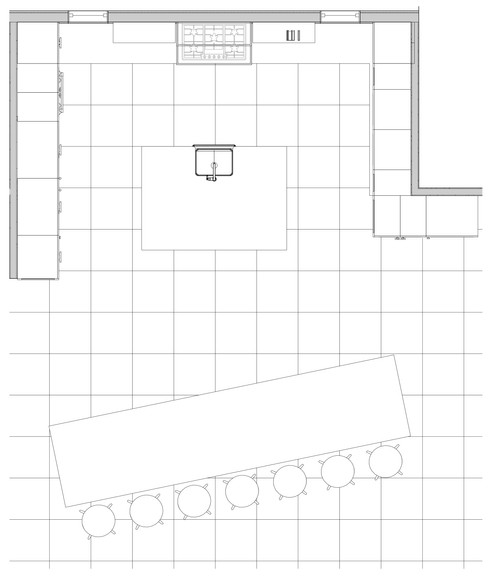 Enlarged Kitchen Plan