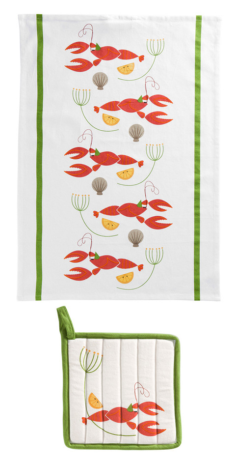 Helmer Tea towel and Potholder Design for Åhlens