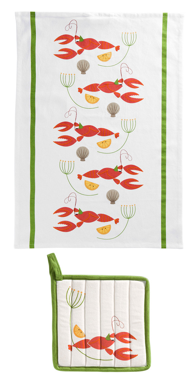 Helmer Tea towel and Potholder Design for Åhlens