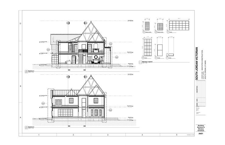 Building Sections & Window Schedule