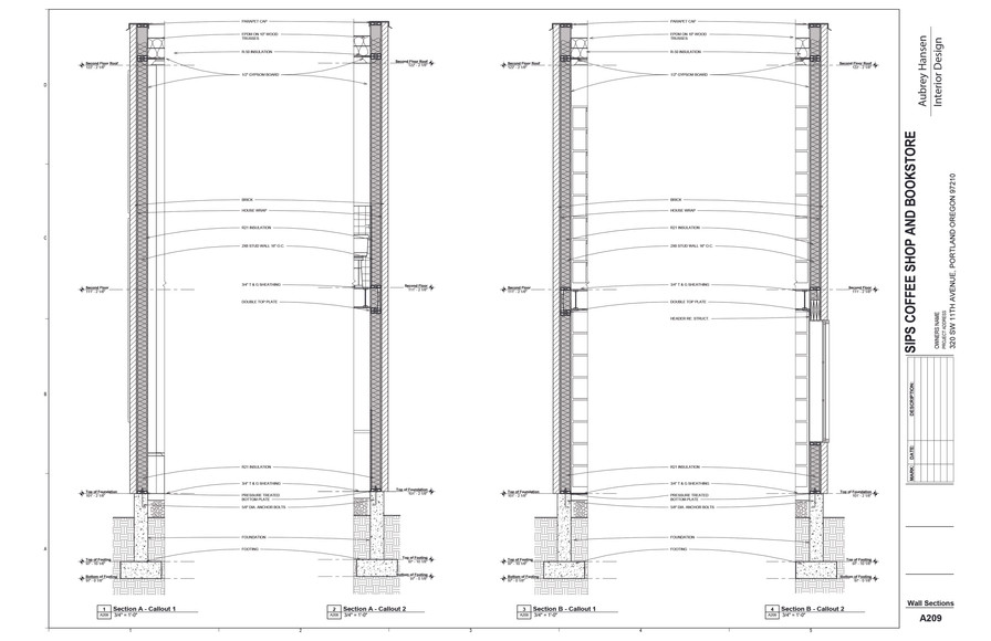 Wall Sections A & B