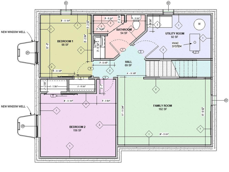 Basement Floor Proposed Plan
