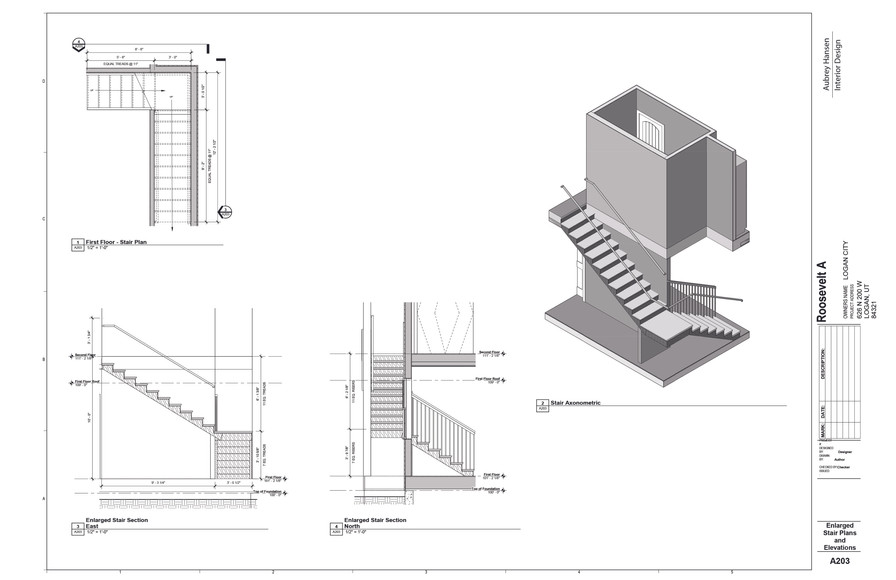 Enlarged Stair Plans and Elevations