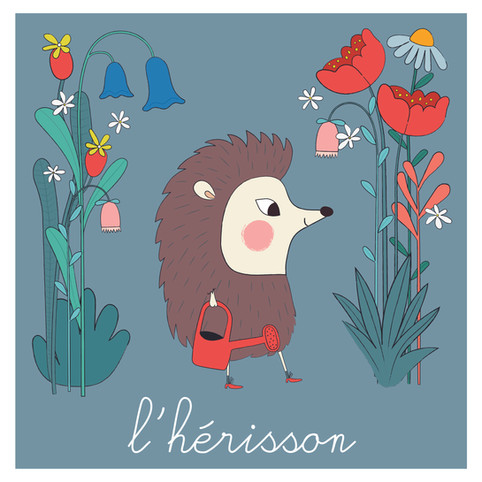 Gardening hedgehog print