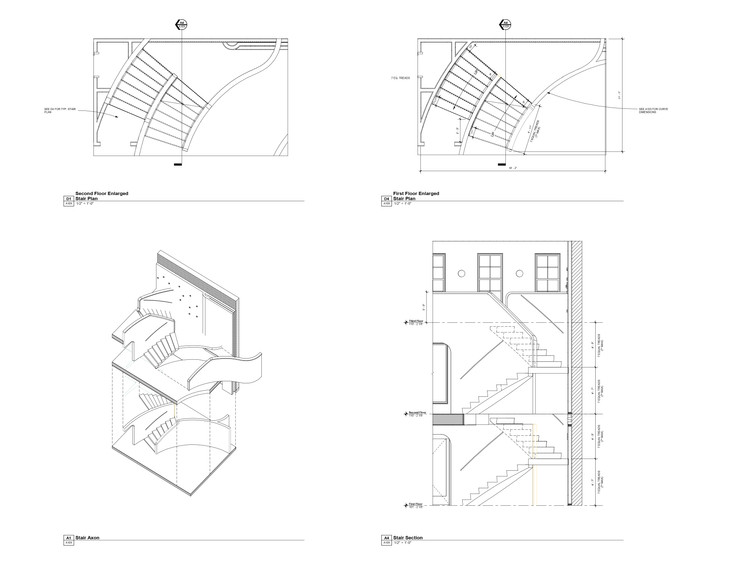 Plans - Enlarged Stair Plans