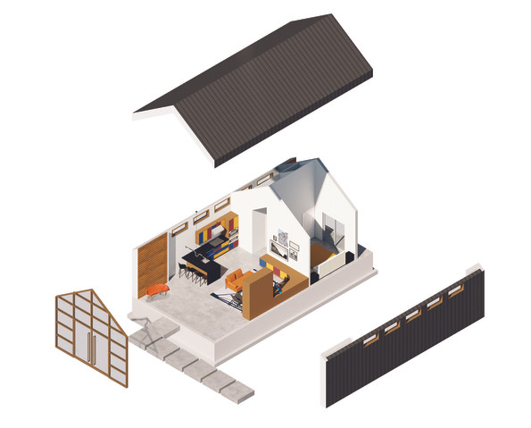 The House - Exploded Axonometric