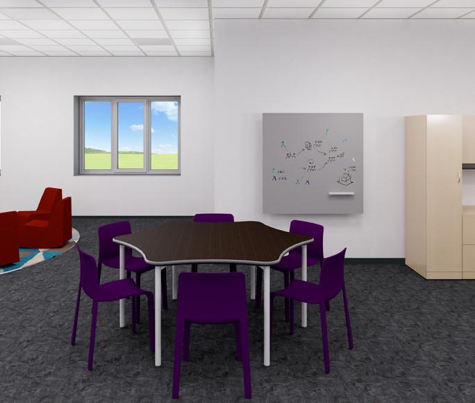 Teacher Hexagon Table