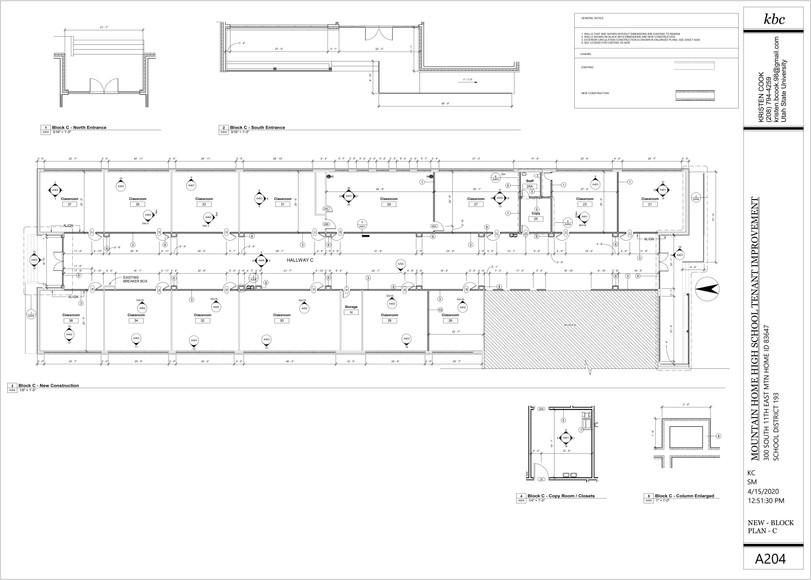 New Construction - Block C + Enlarged Pl