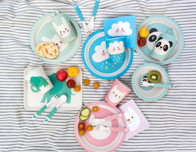Elvis the Elephant, Cookie the cat, Bonnie the bunny, Happy Cloud and Miko the panda Designs