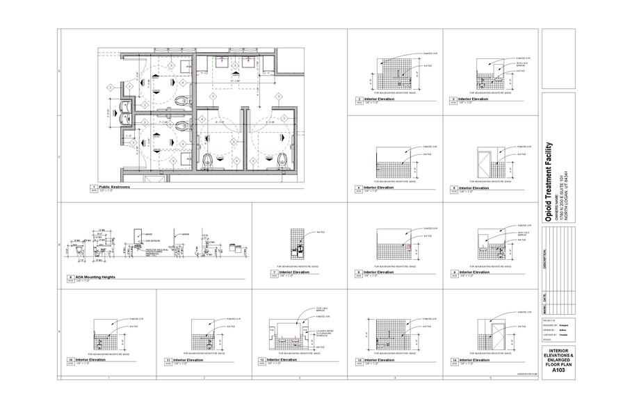 Interior Elevations - Public Restrooms