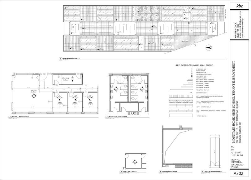 Reflected Ceiling Plan - Block C + Enlar