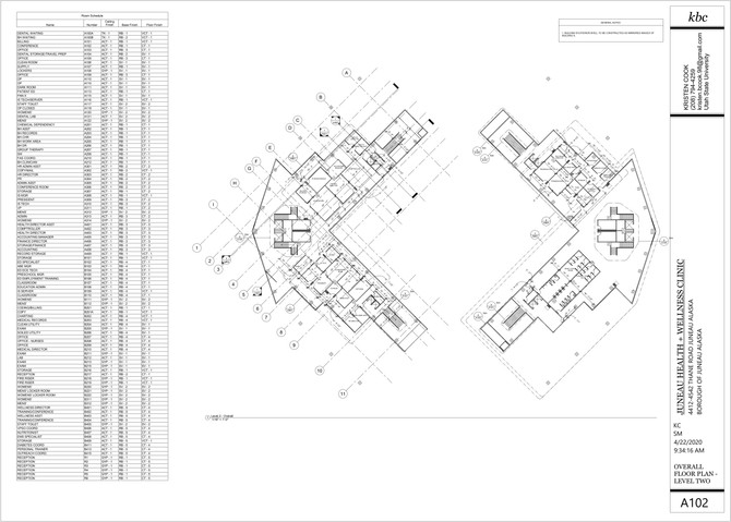 A102 - Overall Floor Plan - Level 2