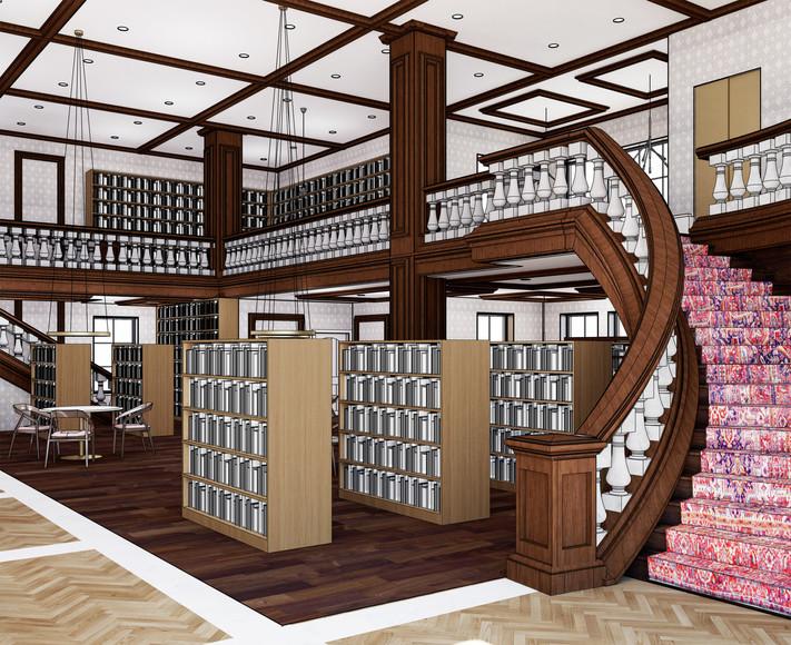 Bookstore Rendering
