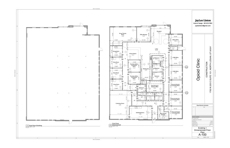Existing + Dimensioned Plan