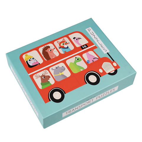 Set of 6 Transport Puzzles Designed for Rex London