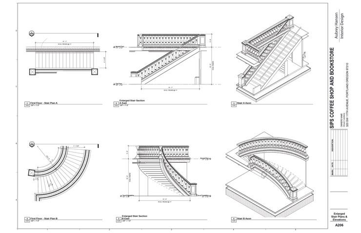 Enlarged Stair Plans & Elevations