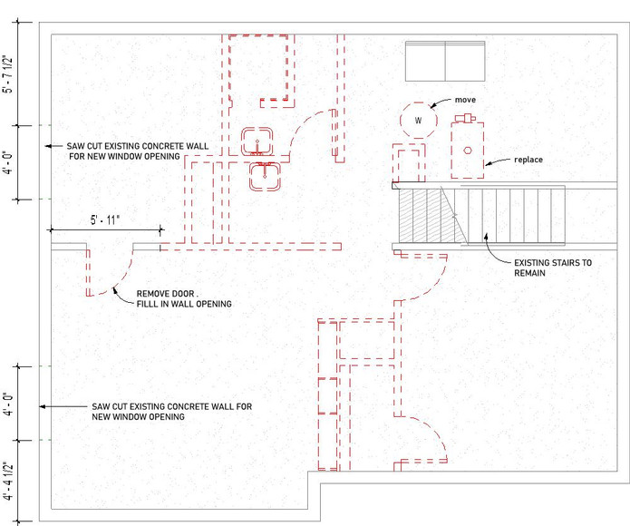 Basement Demolition Floor Plan