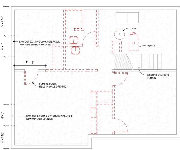 Basement Demolition Floor Plan