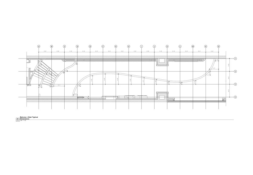 Plans - Balcony + Stairs Typical Dims