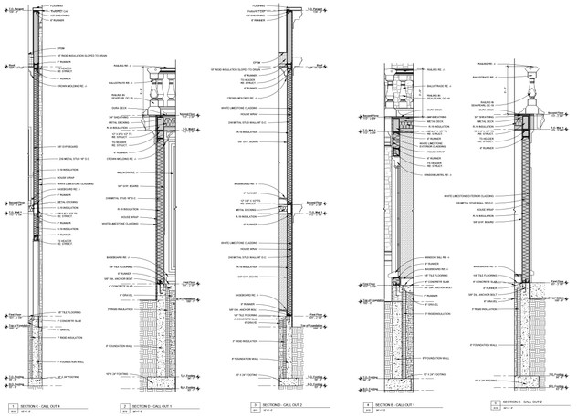 Exterior Wall Sections 1-5