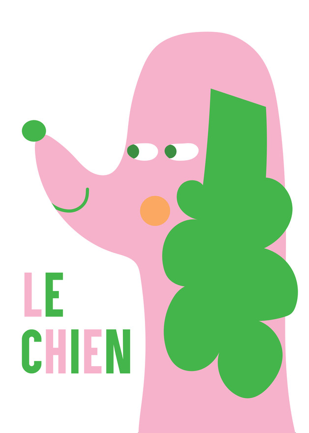 Le Chien Animaux poster by Asa Wikman. Coming to my shop shortly.