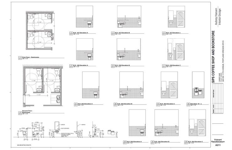 Enlarged Plans & Elevations